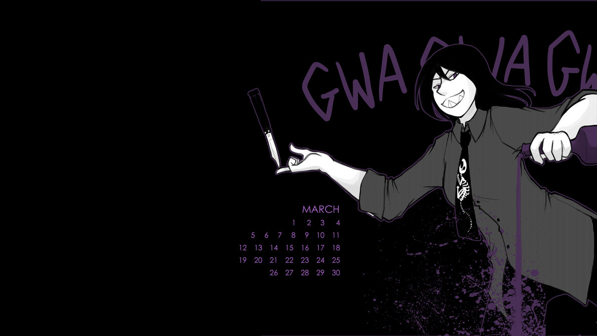 Wallpaper Calendar 2016 March by Zennore 1191x670