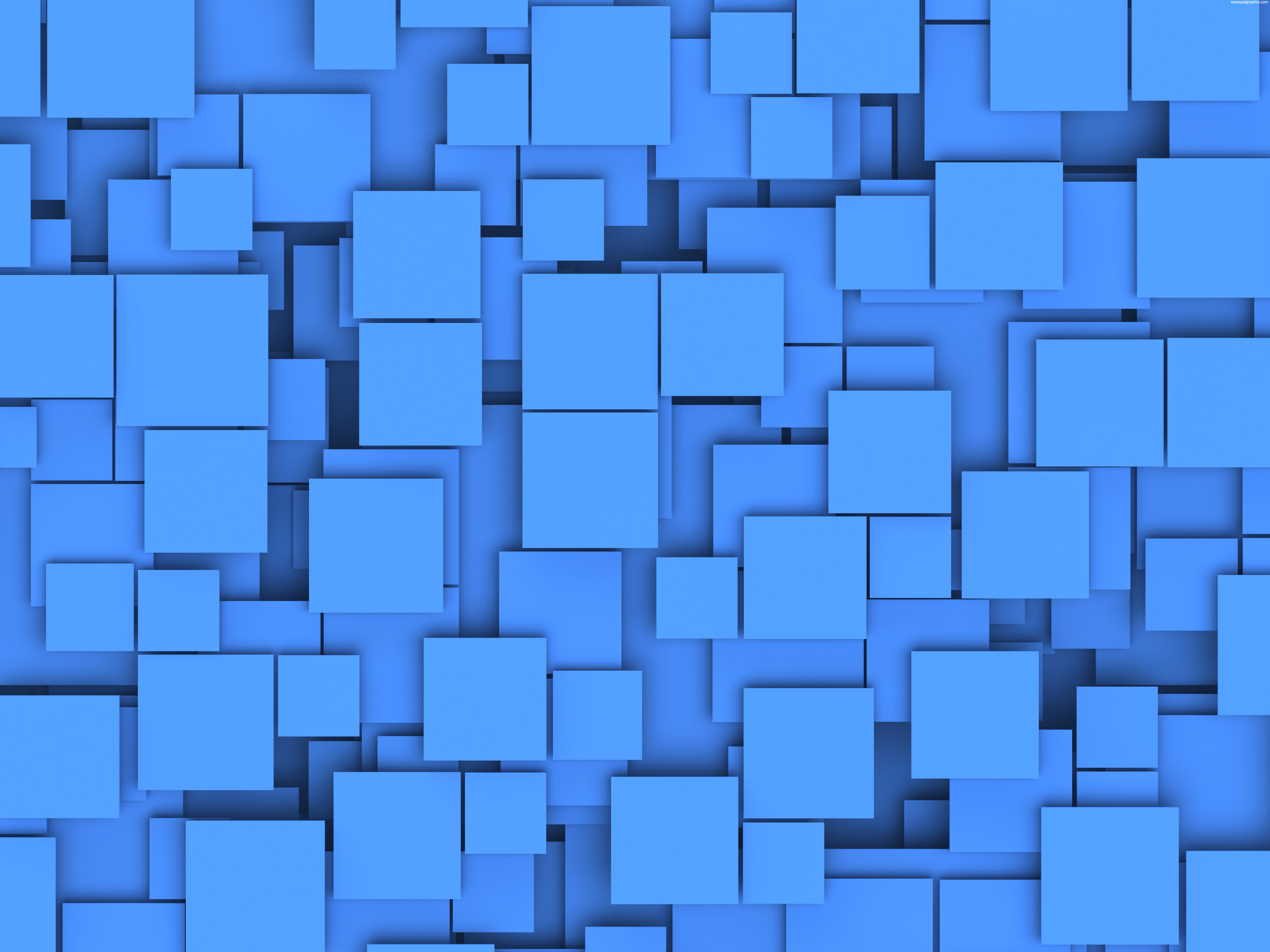 Blue squares background PSDGraphics 5000x3750