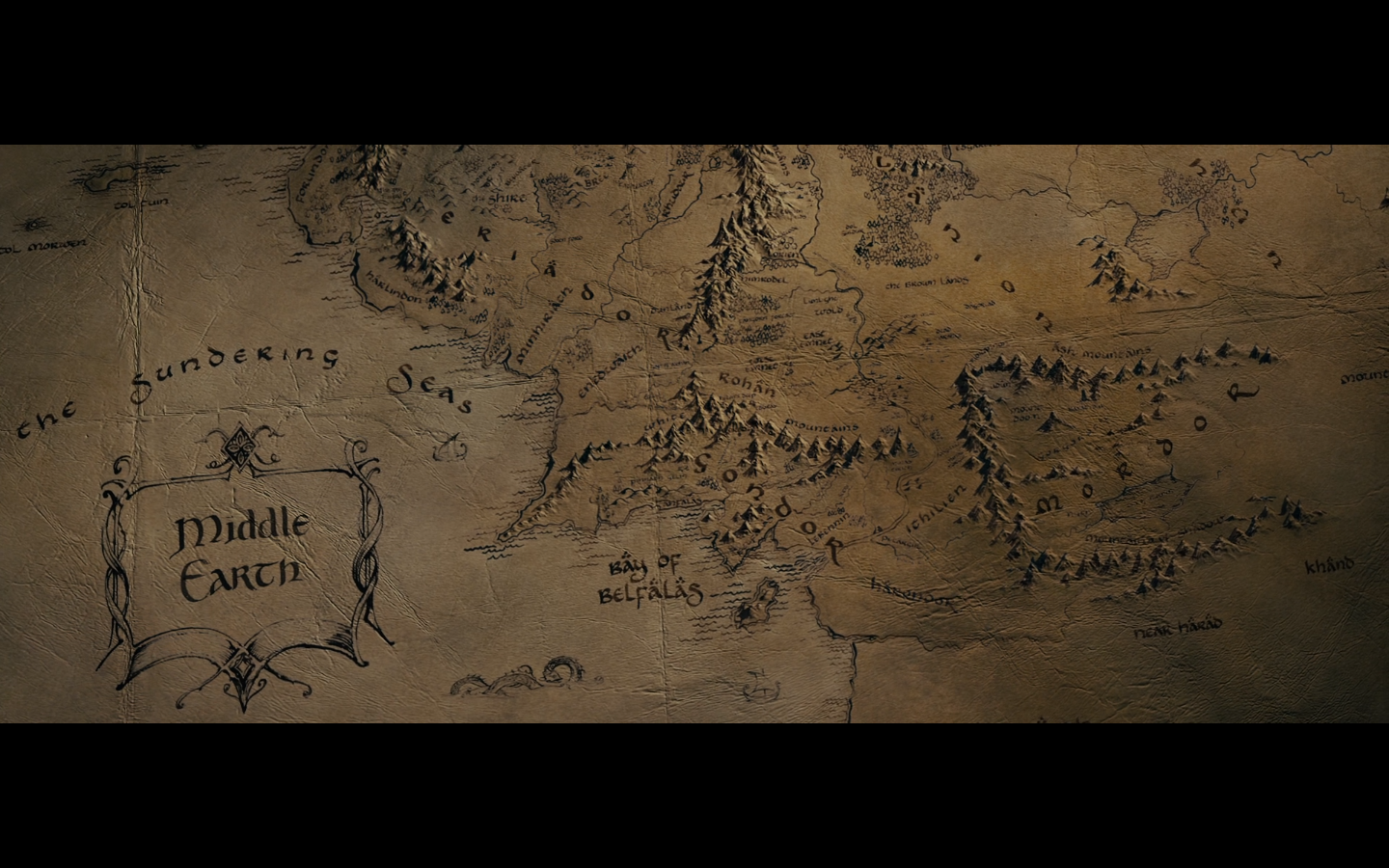 The Lord Of The Rings Map Wallpaper Maps the lord of the rings 1440x900