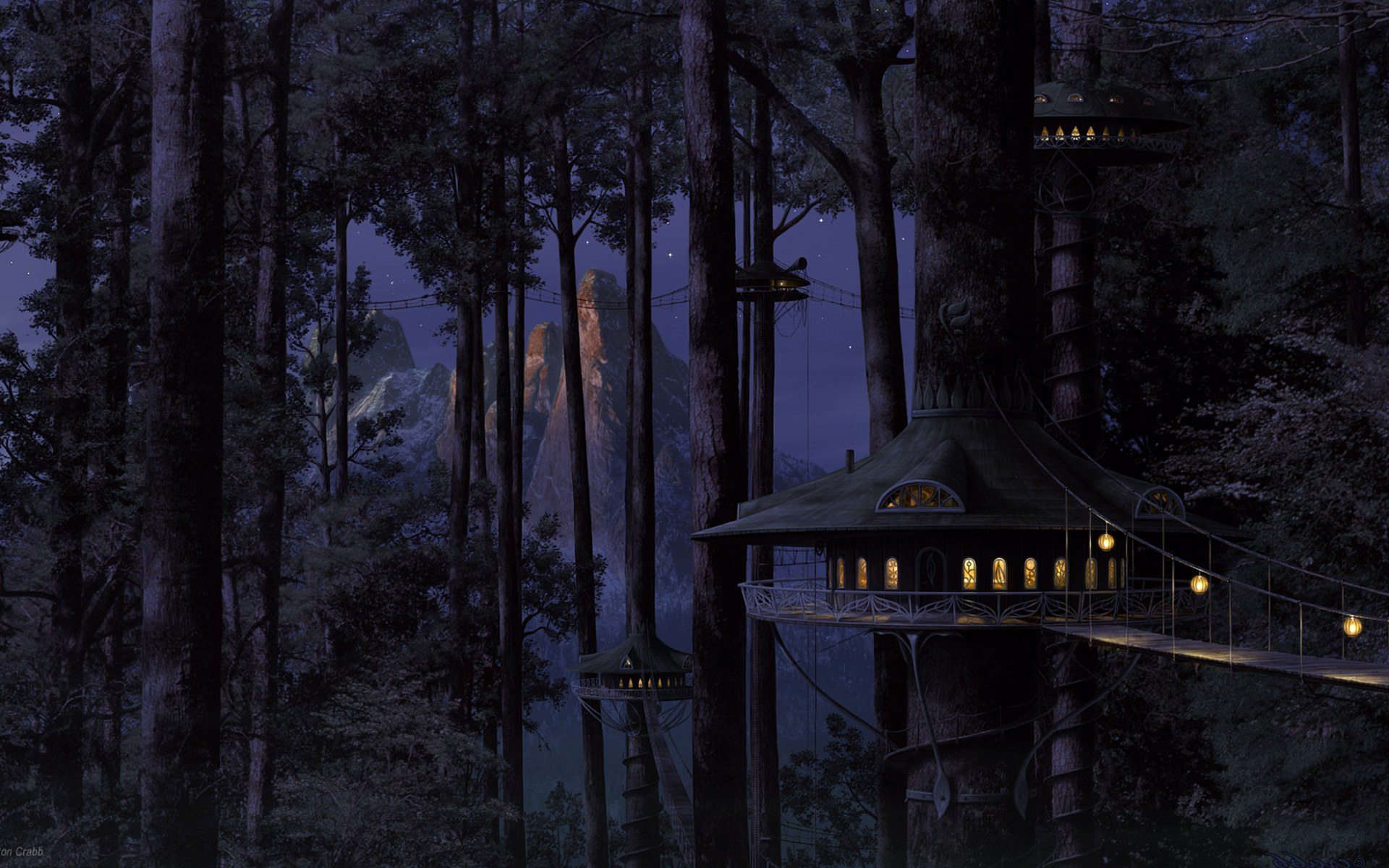wallpaper landscape photo forest anime wallpapers artifacts 1920x1200