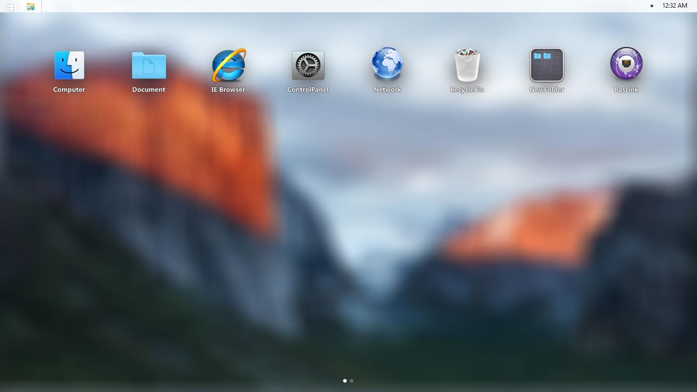 Mac OS X El Capitan SkinPack 1366x768
