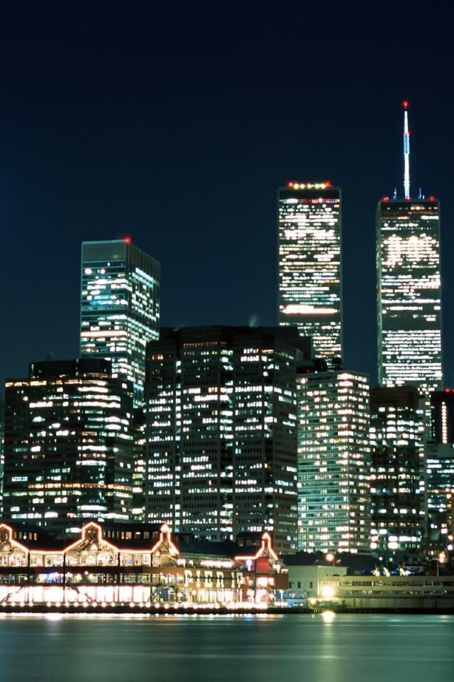 city lights new york usa new york city skyscraper uploaded 640x960