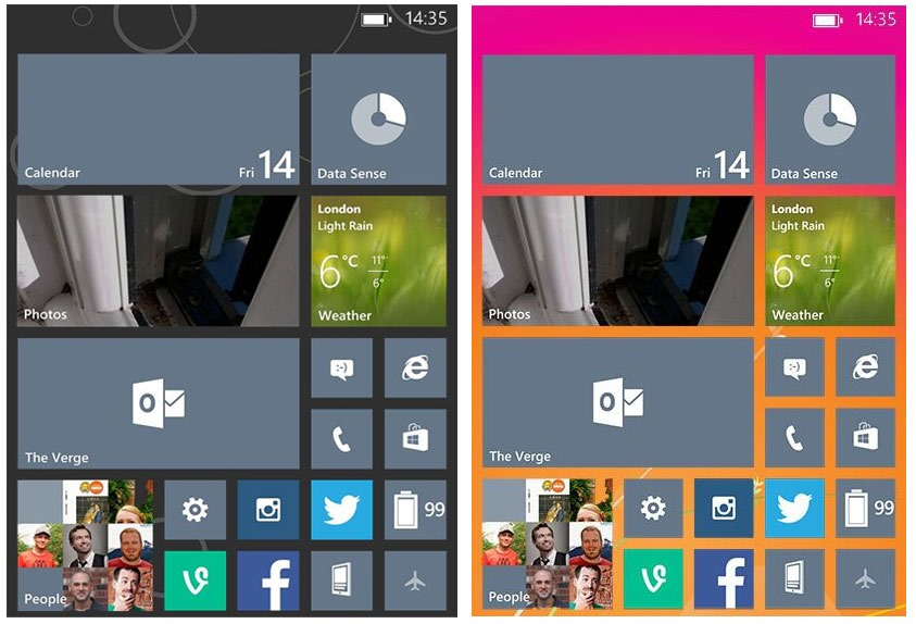 Windows Phone 81 To Allow Users To Change Backgrounds 843x574