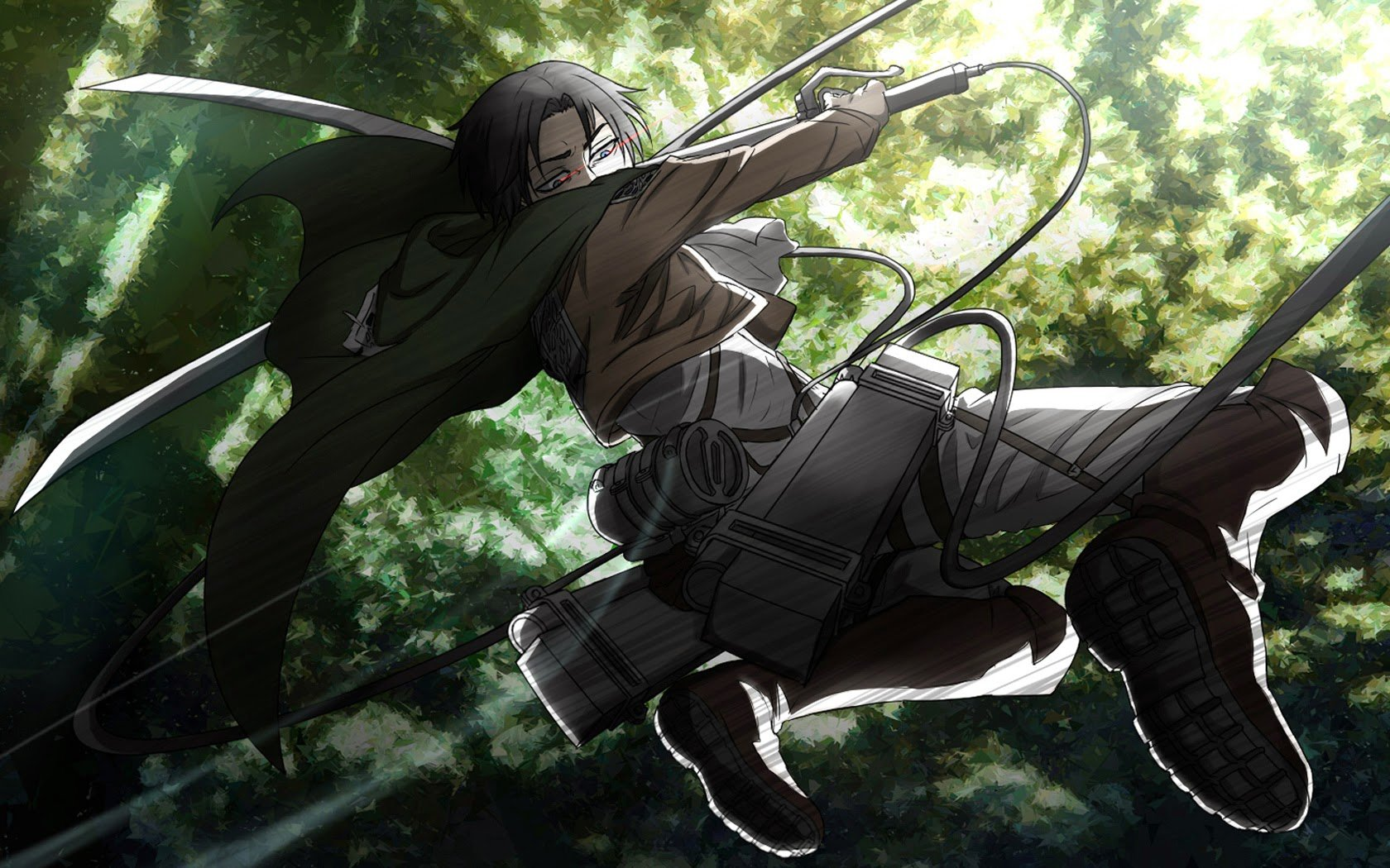 captain levi attack on titan shingeki no kyojin anime hd wallpaper 1680x1050