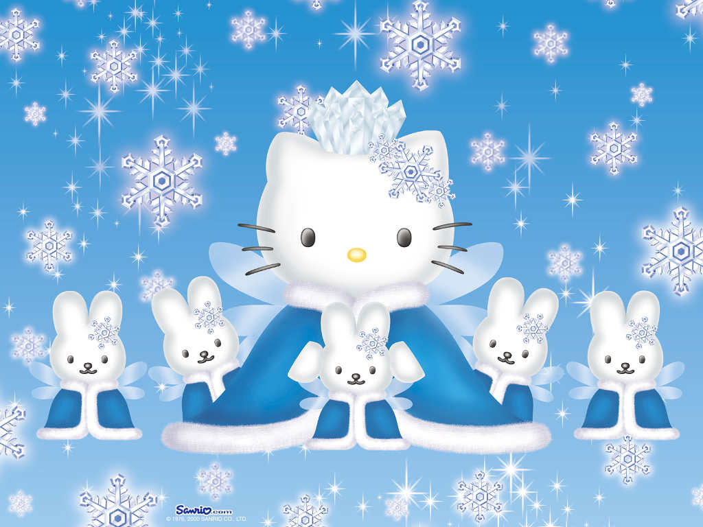 Hello Kitty winter   Hello Kitty Wallpaper 918687 1024x768