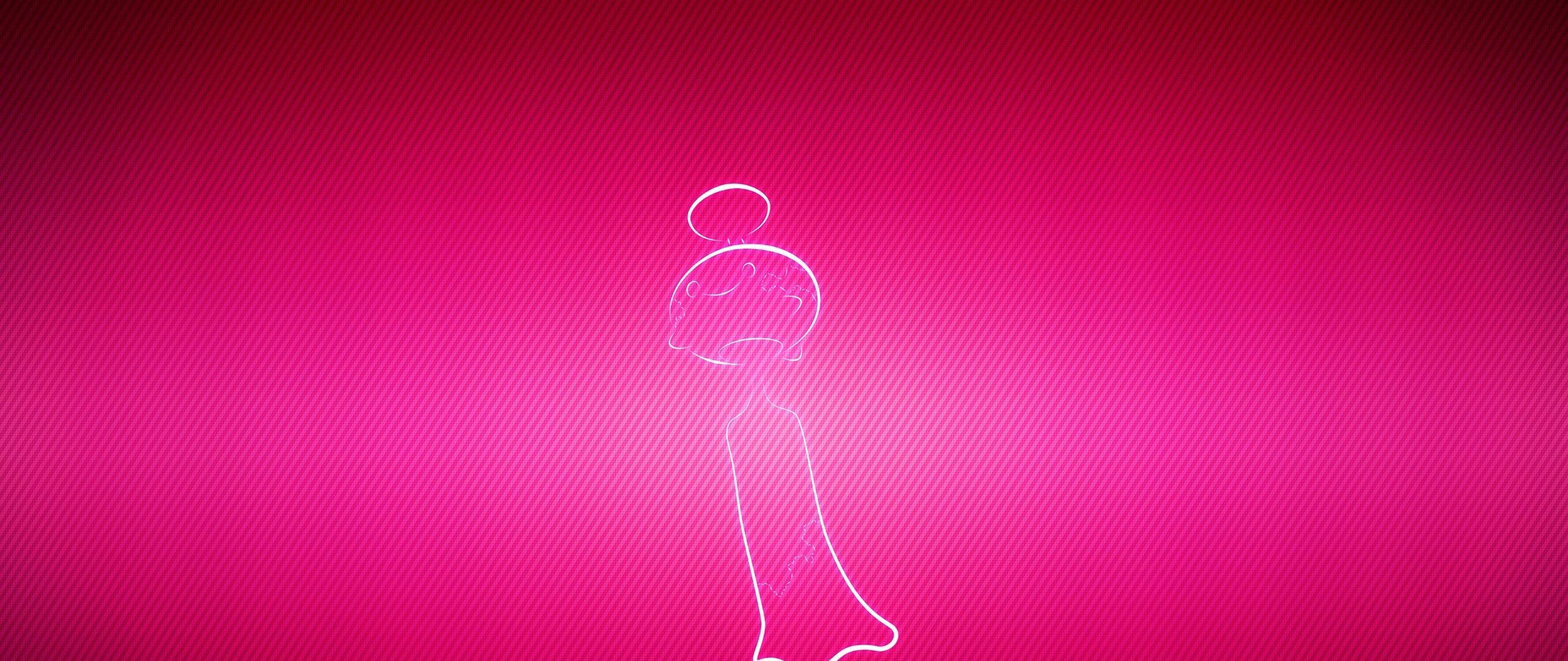 Download wallpaper 2560x1080 pokemon pink chimecho dual wide 2560x1080