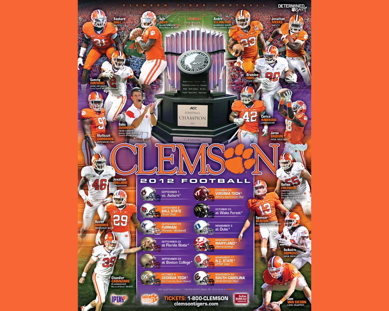 27 2012 Clemson 2012 Football Schedule Clemson Tigers football 1280x1024