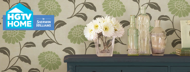 HGTV HOME by Sherwin Williams Urban Organic Wallpaper Collection 738x281