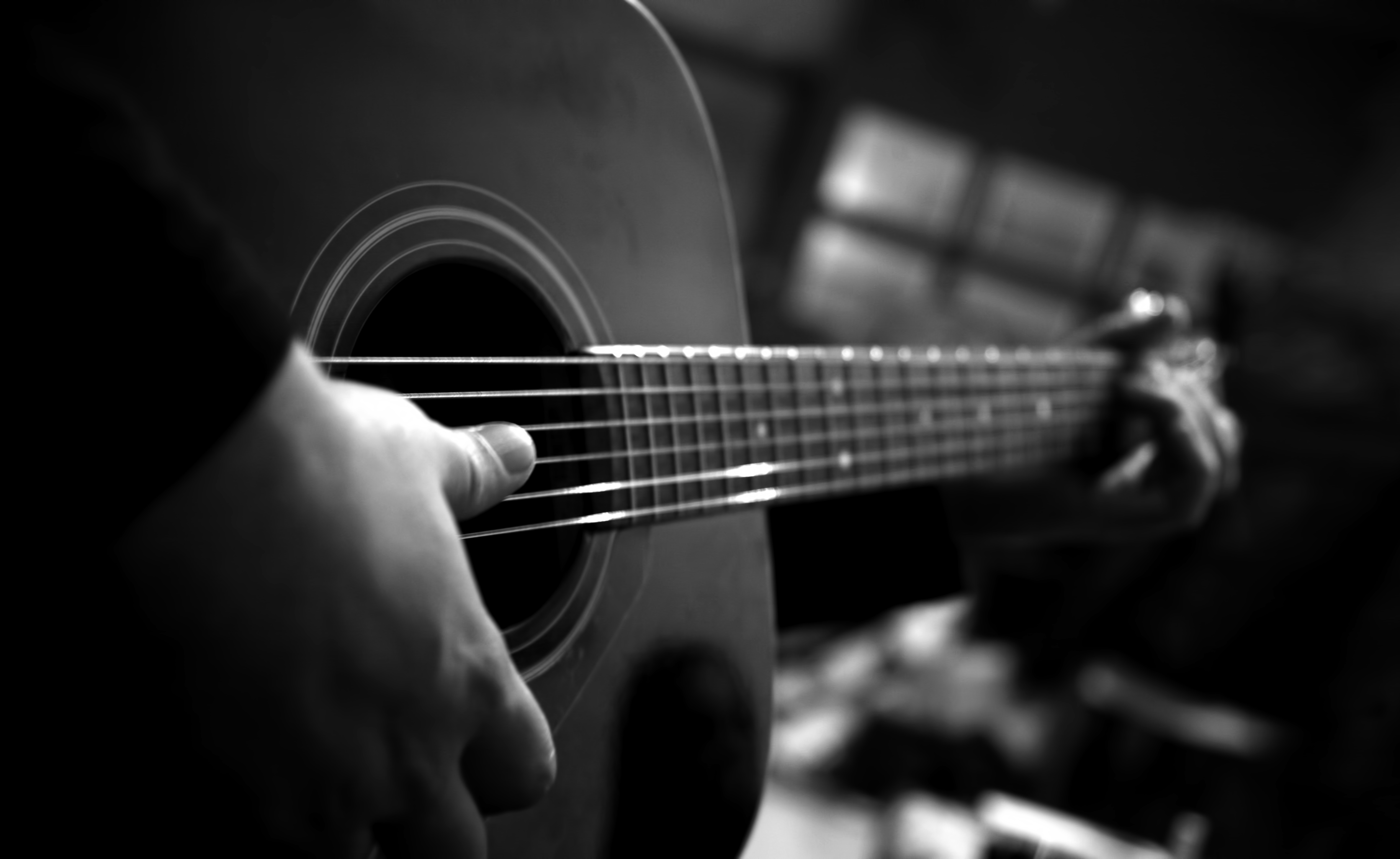 Guitar Wallpaper Black and White wallpaper wallpaper hd background 4744x2912