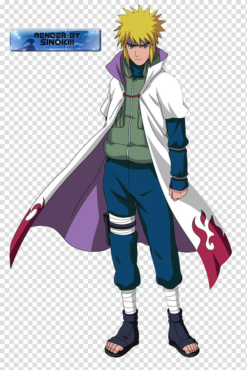 Minato Namikaze th Hokage render Naruto character transparent 800x1194