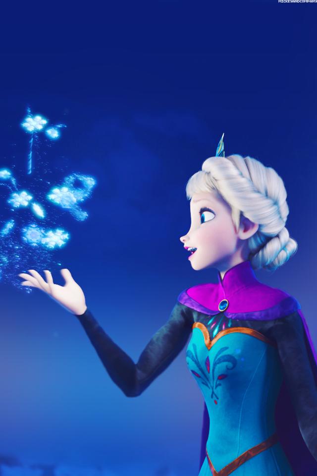 Frozen Elsa iPhone wallpaper 640x960