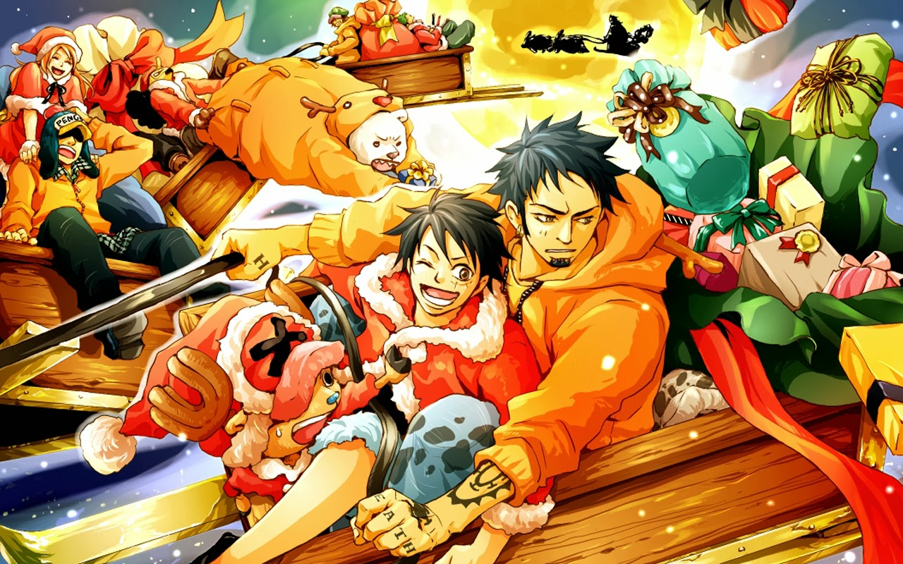 one piece christmas anime hd wallpaper 1280x800 1280x800