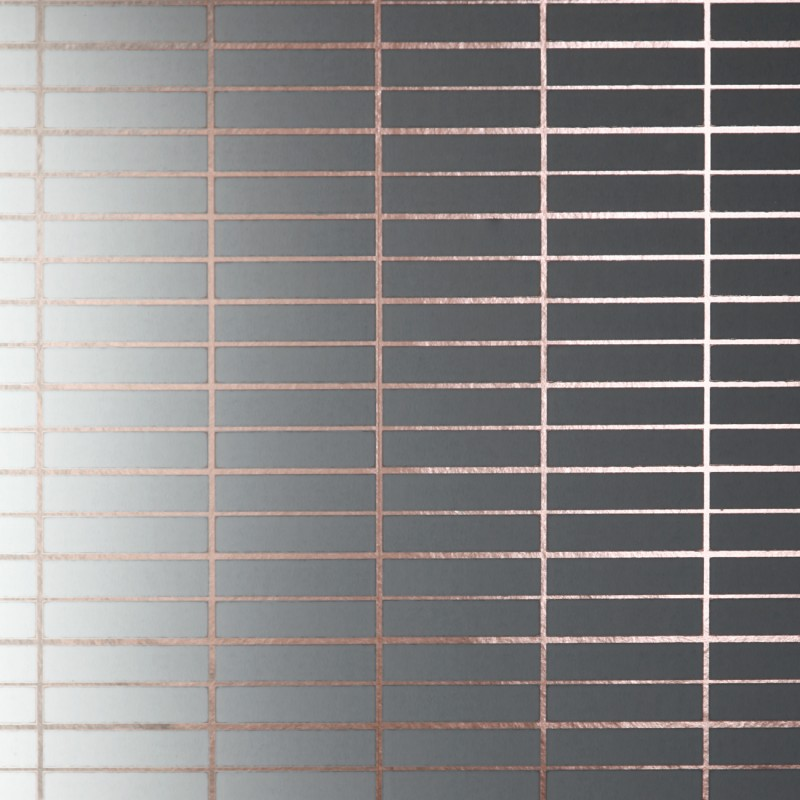 Grid Metallic Copper Rose and White Wallpaper 800x800