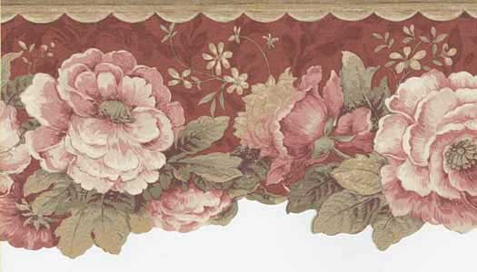 Rose Floral Laser Wallpaper Border   Wallpaper Border Wallpaper 525x300