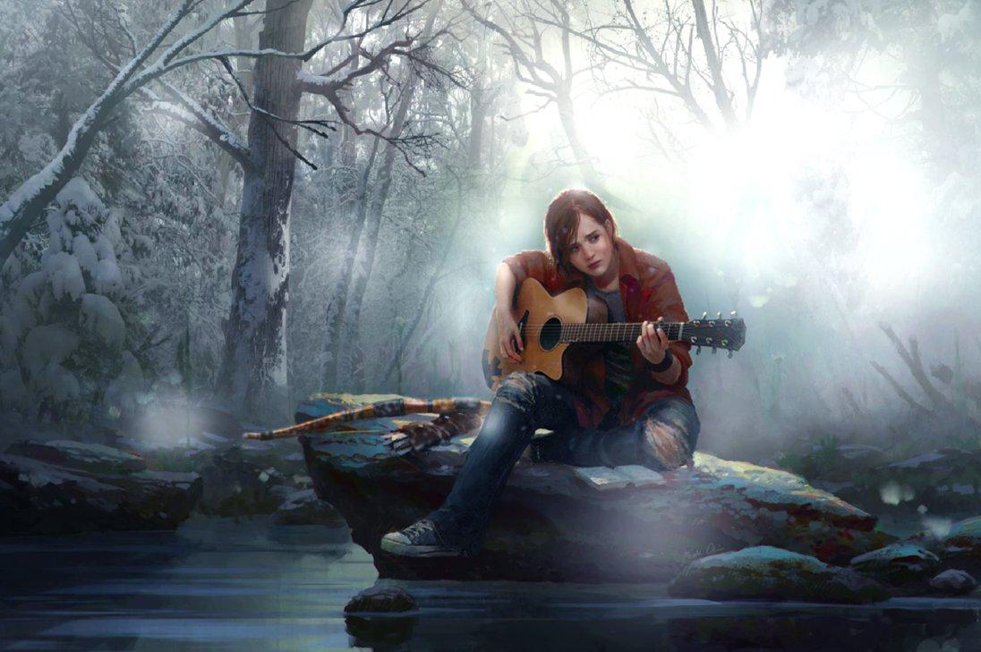 Ellie The Last of Us Photomanipulationwallpaper by GhostlyPianoKeys 1096x729
