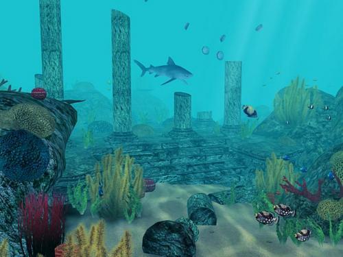 Underwater 3D Aquarium Wallpaper 500x375