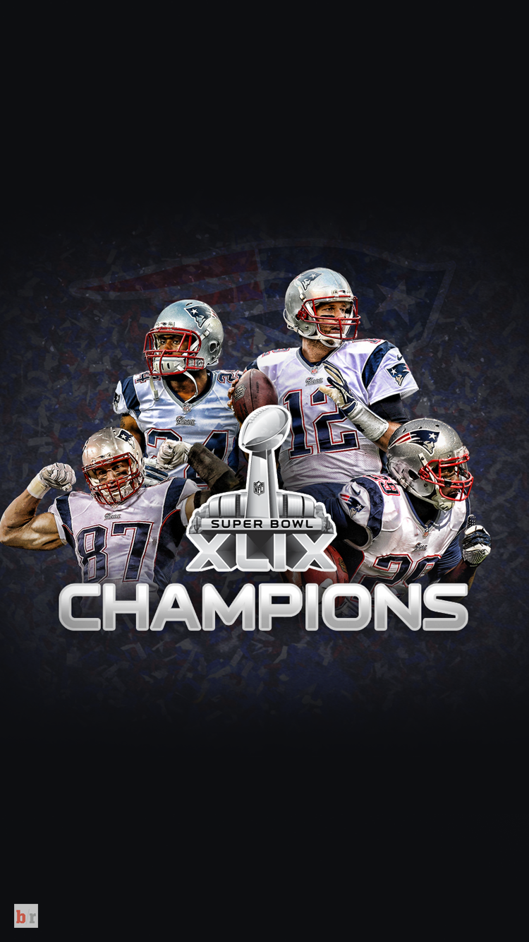 New England Patriots Super Bowl Champion Wallpapers Bleacher Report 750x1334