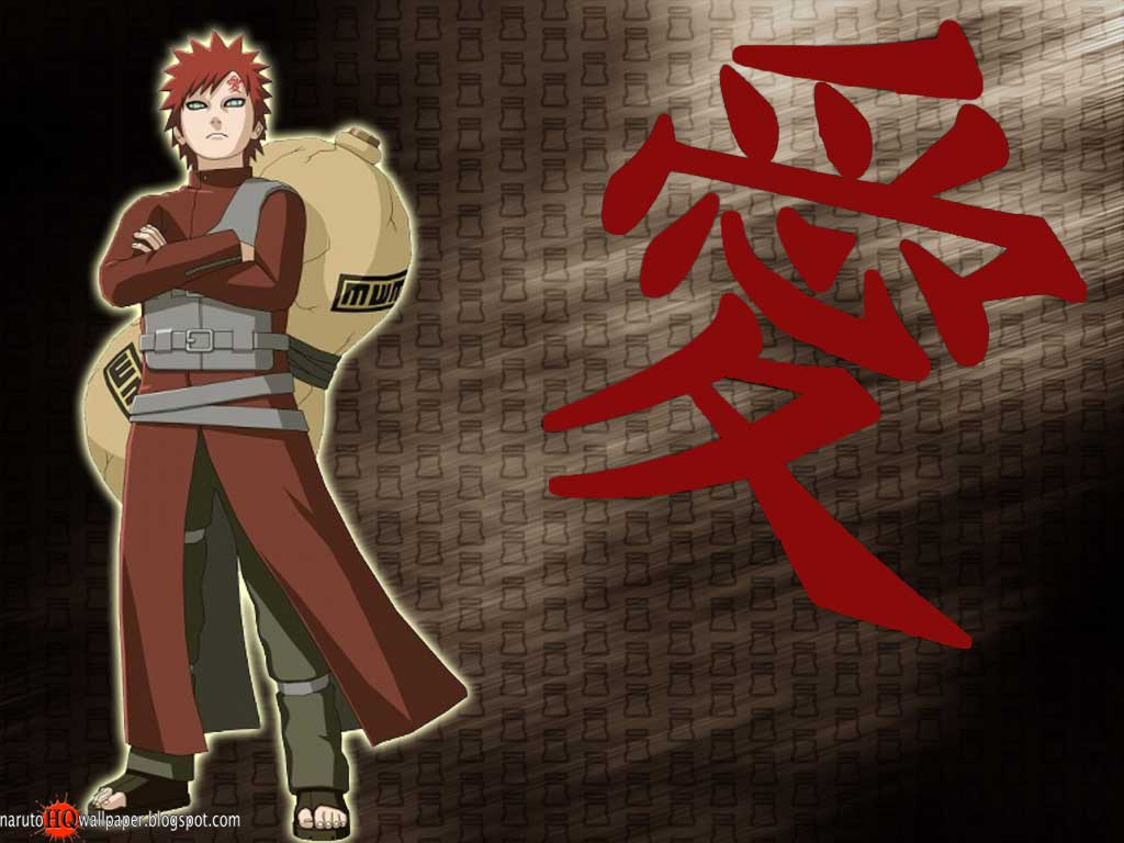 Gaara as Kazekage Wallpaper Naruto Shippuden Wallpaper 1024x768