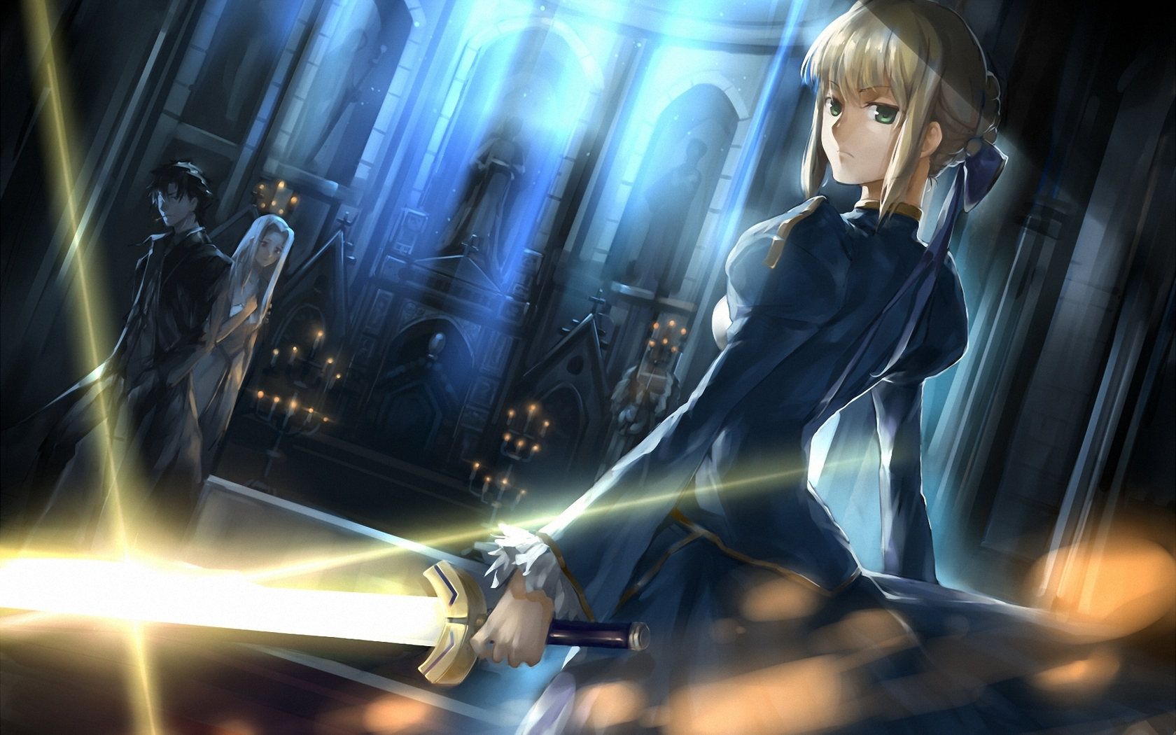 Fate Zero Saber Wallpaper hd Fate Zero Stay Night Saber 1680x1050