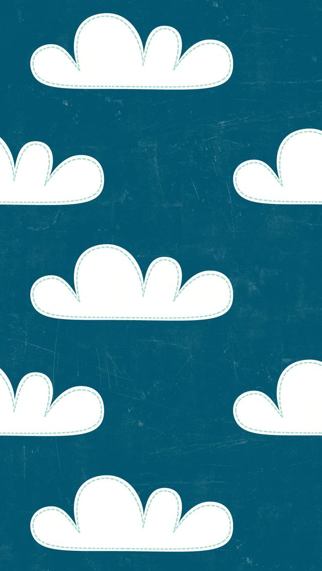Backgrounds 5S Backgrounds Cartoony Clouds Iphone Backgrounds 640x1136