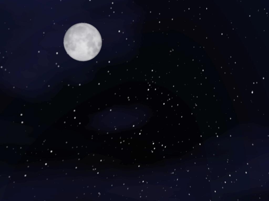 Картинки луны и звездного неба