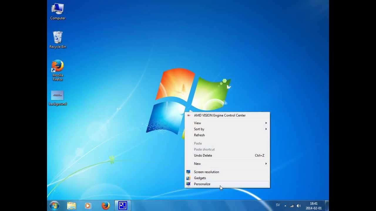 How to change desktop background wallpaper   Windows 7 1280x720