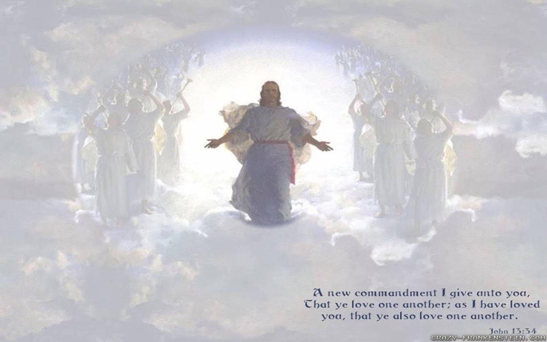 Religious Wallpaper Hd   Jesus Welcoming Us To Heaven 1920x1200
