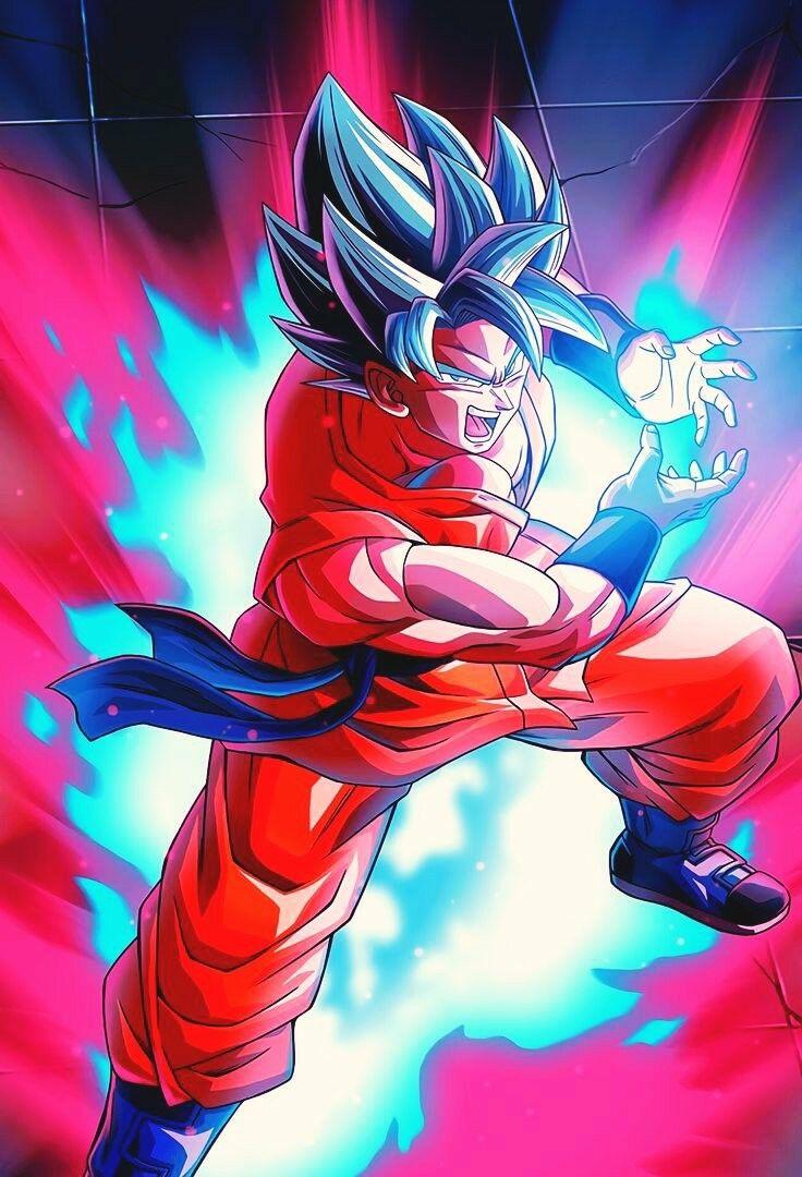Ssj blue kaioken Dragon ball super manga Anime dragon ball 736x1080