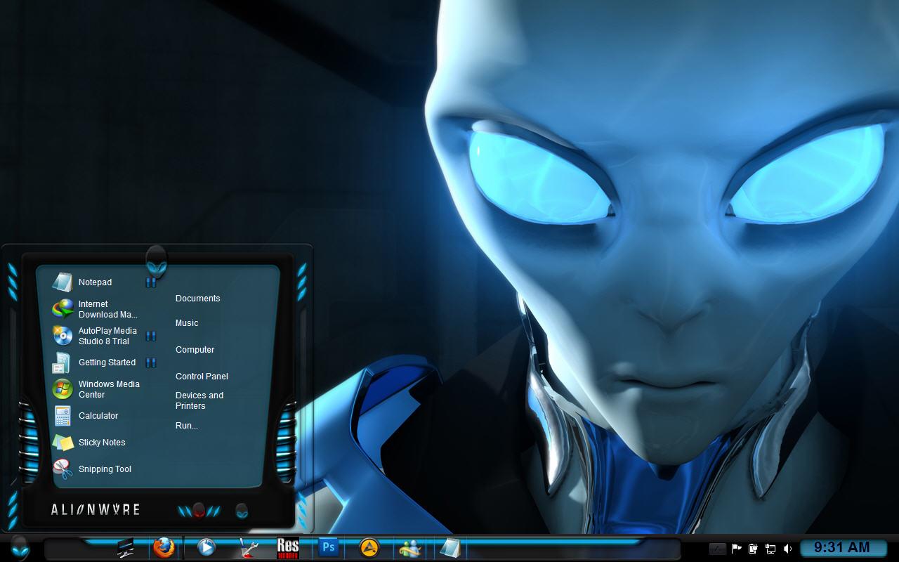 Alienware desktop themes windows 7 wallpaper_funny.
