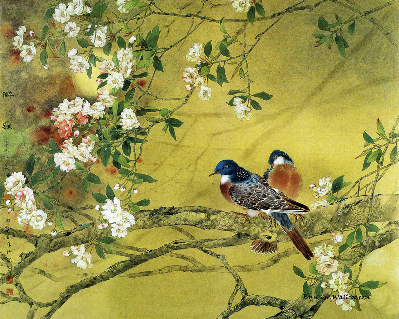 Flower and Bird Painting by Zou Chuan An 12801024 NO3 Wallpaper 1280x1024