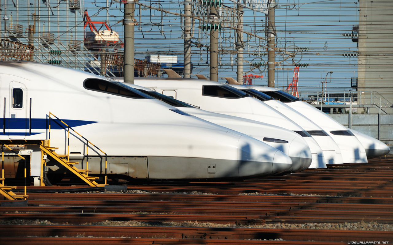 Japan High speed trains desktop wallpapers HD and wide 1280x800