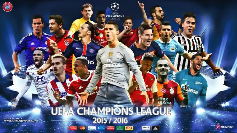... : UEFA Champions League 2015-2016 Football Star Players HD Wallpapers