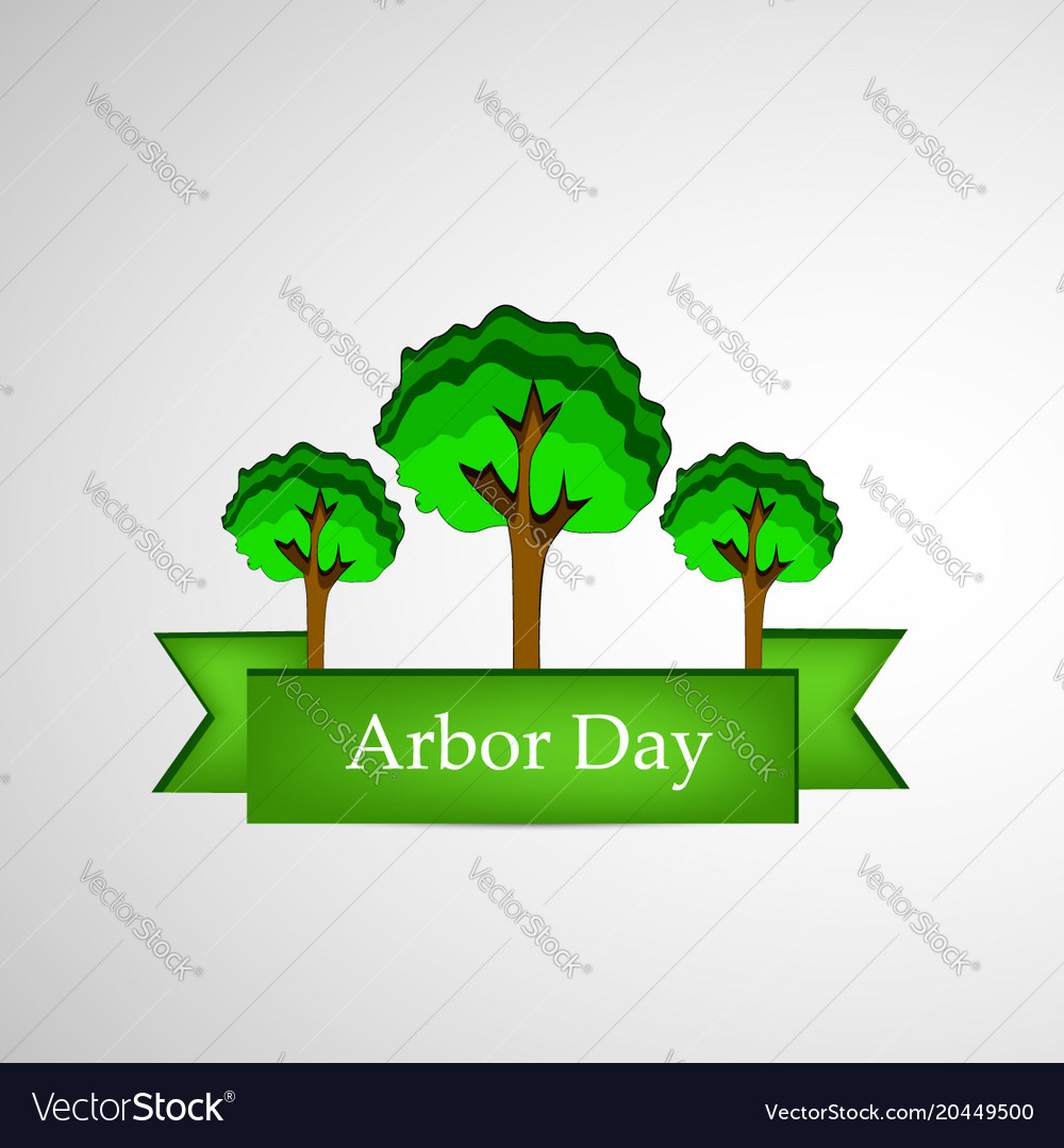 Arbor day background Royalty Vector Image 1000x1080