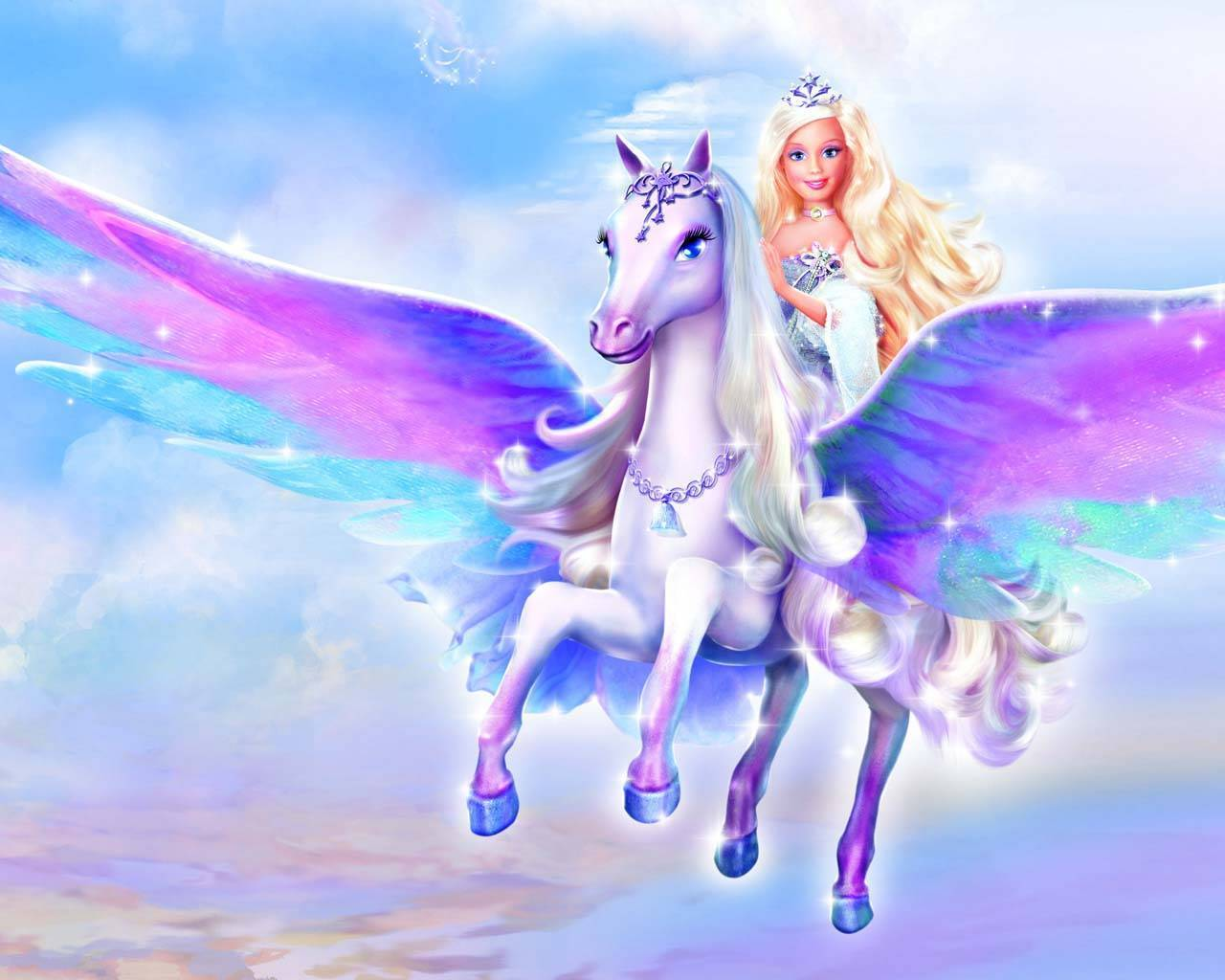 Barbie And Unicorn Wallpaper HD 8203 Wallpaper Wallpaper Screen 1280x1024