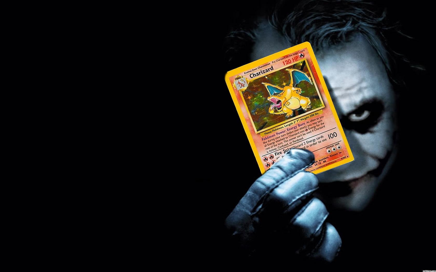 pokemon joker charizard pokemon parody x 1680x1050