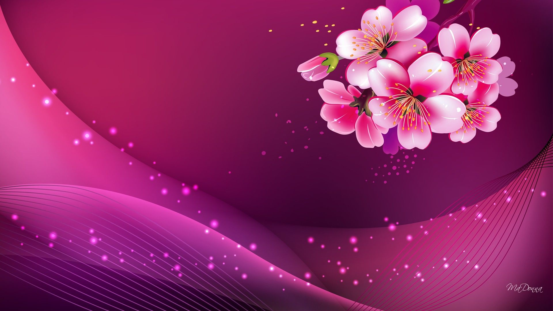 Pink Background HD HD Background Point Love pink wallpaper 1920x1080
