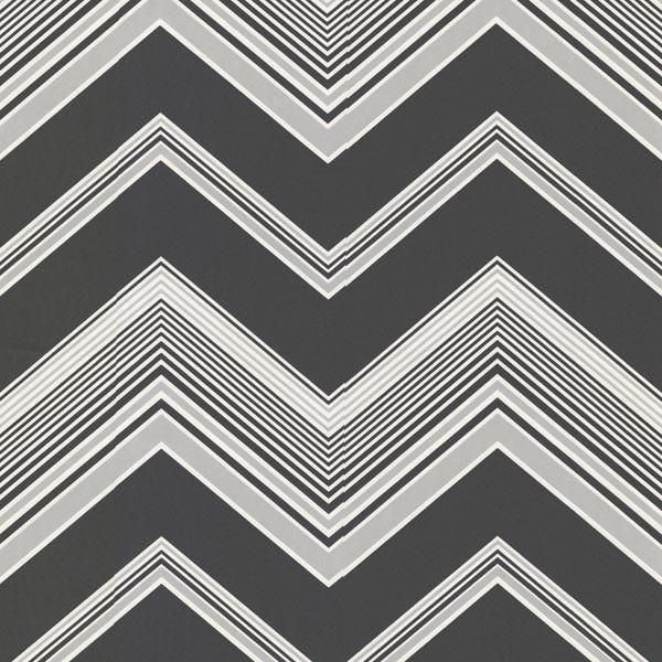 Bearden Black Zig Zag Wallpaper Bolt   Contemporary   Wallpaper   by 600x600