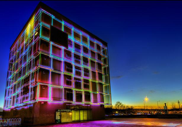 Neon Cubes 615x432