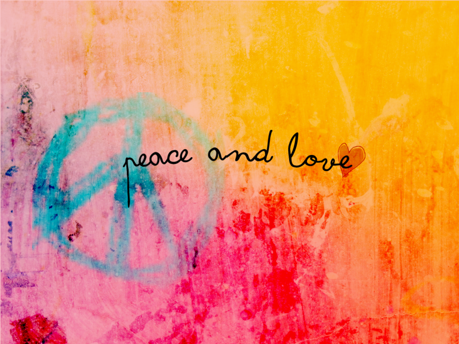 Wallpaper Peace and Love by iqitutoriales 900x675