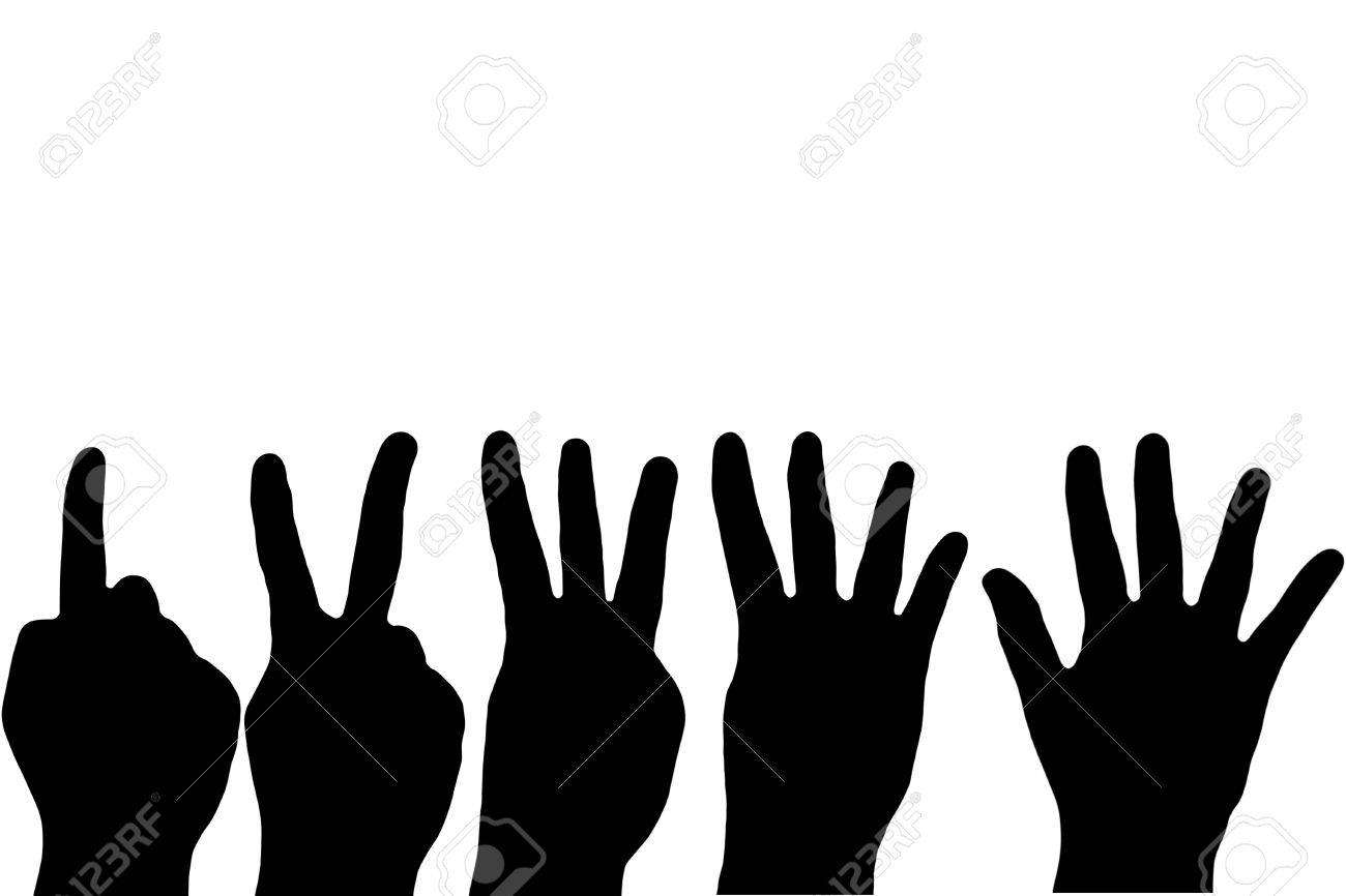 Black Hand Fingers Counting On White Background Stock Photo 1300x866