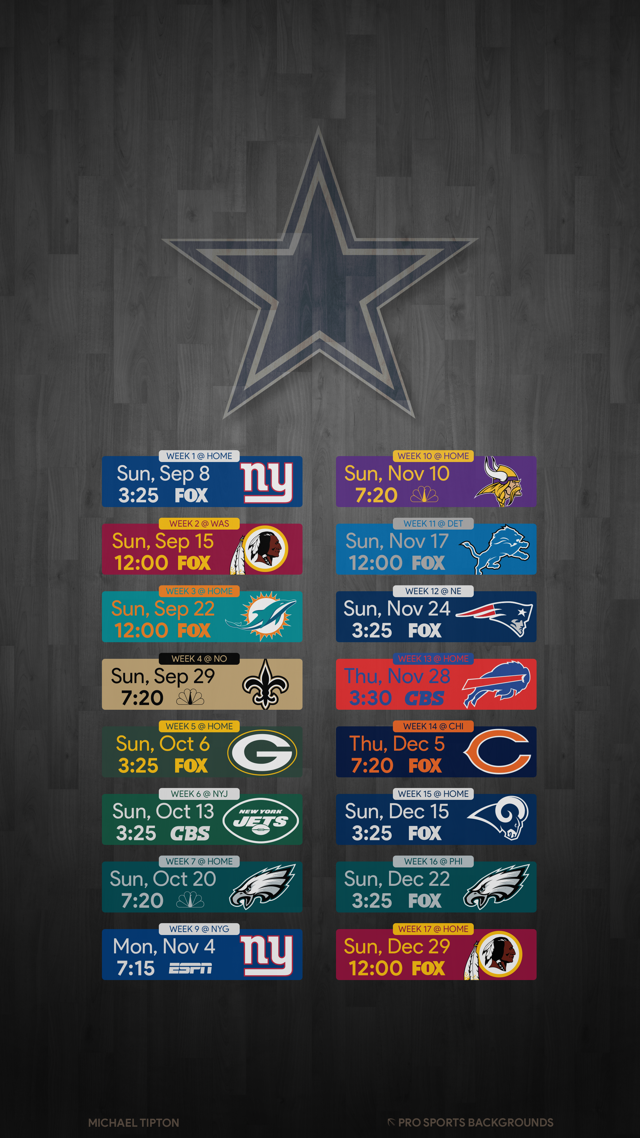 Dallas Cowboys Schedule Wallpaper For Iphone in 2020 Dallas 2160x3840