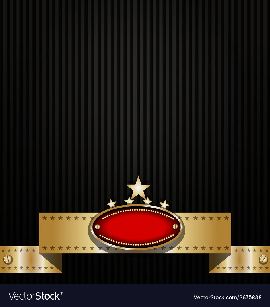 Classy background design with badge and ribbon Vector Image 949x1080