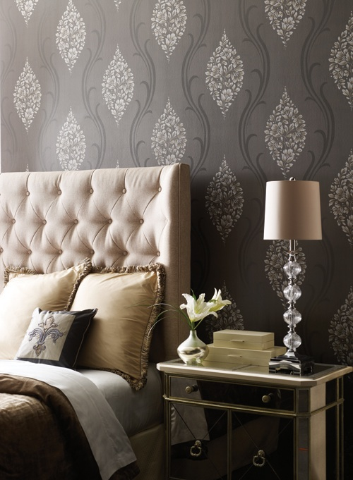 YORK WALLCOVERING ANTONINA VELLA Crown Wallpaper Fabrics Toronto 500x681