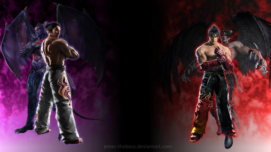Devil Kazuya and Devil Jin Jin by enter theboss 900x506