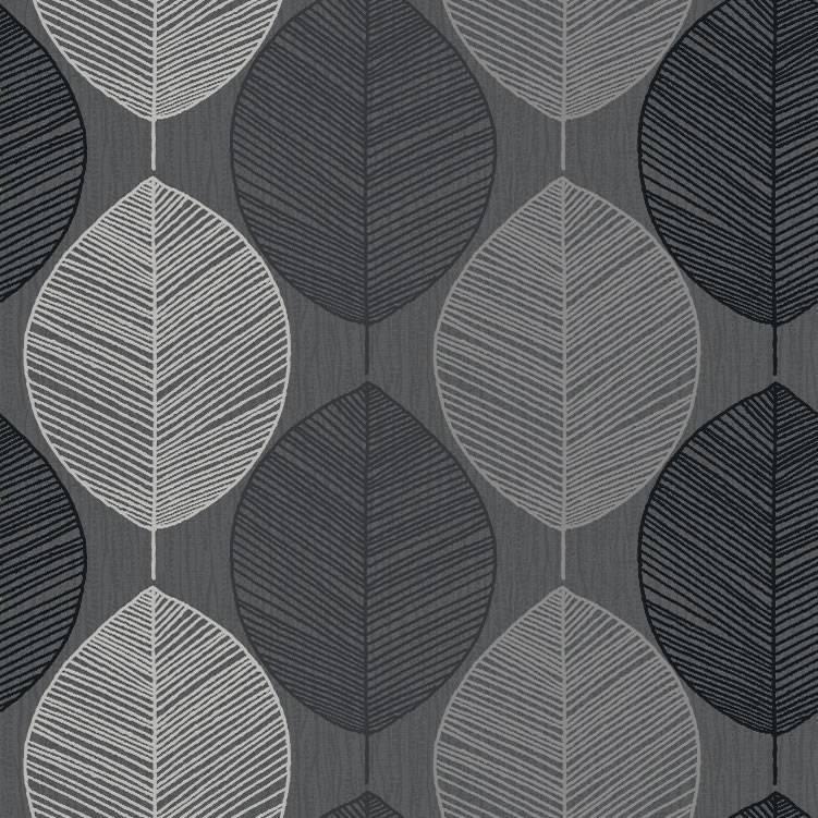 Black Silver Taupe   408201   Retro Leaf   Motif   Arthouse 751x751