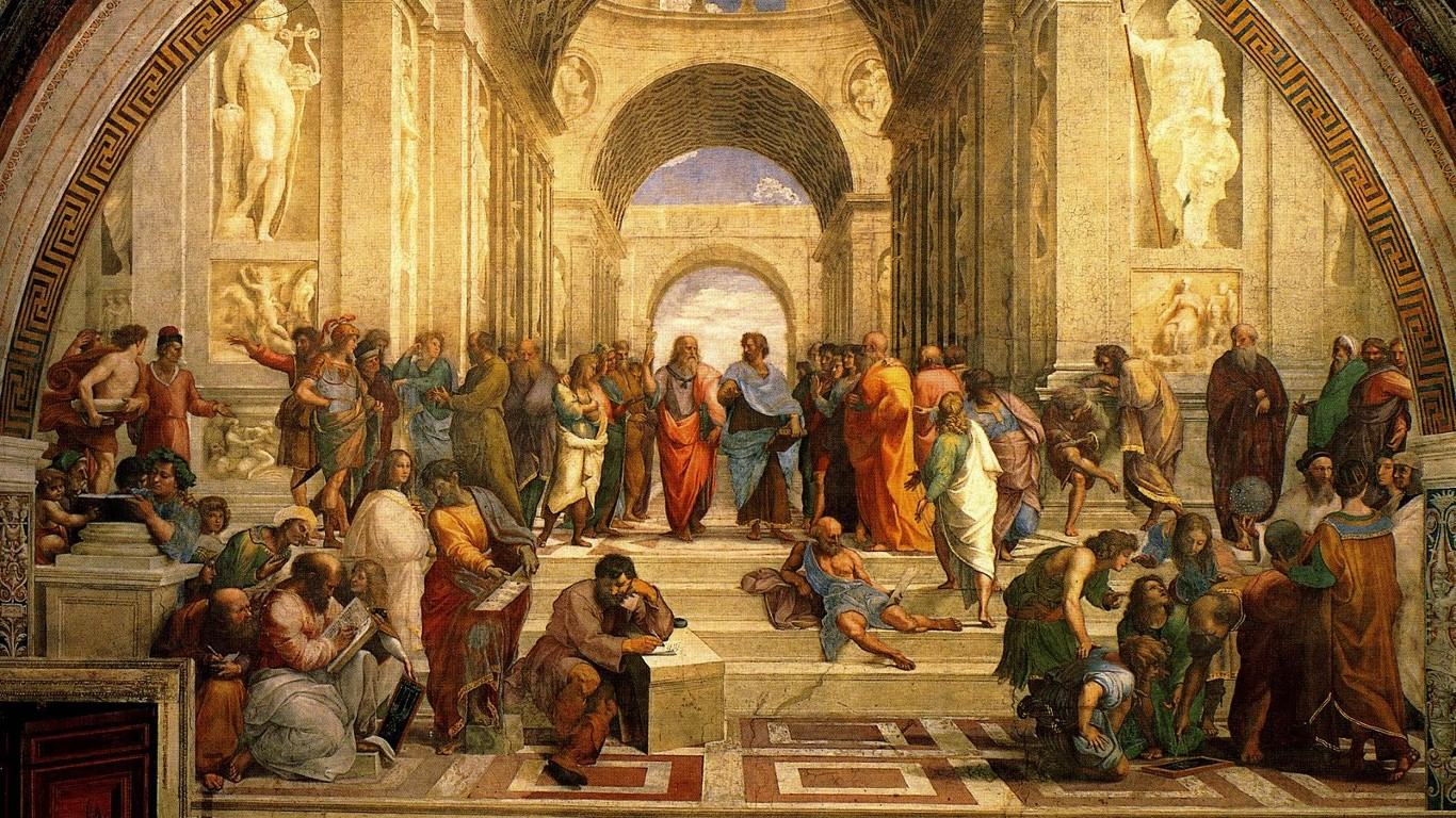Wallpapers Backgrounds   Renaissance Philosophy Wallpaper 1366x768 1366x768
