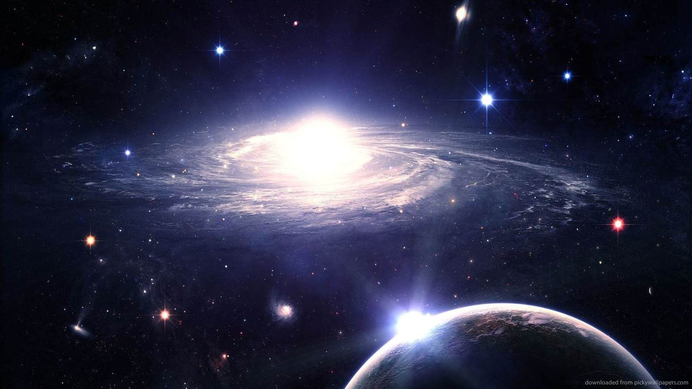 httpwallpaperpickywallpaperscom1366x768swirling galaxyjpg 1366x768