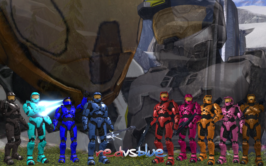 Red vs blue backgrounds   SF Wallpaper 900x563