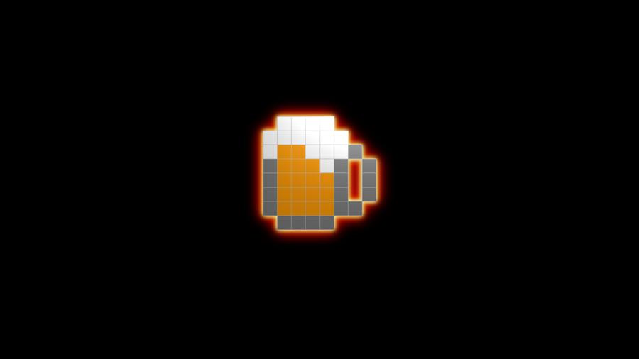 Bit Wallpaper Beer 8bit wallpaper by ekino93 900x506