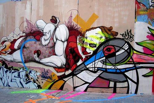 graffiti wallpaper mural Graffiti murals   wall 500x333